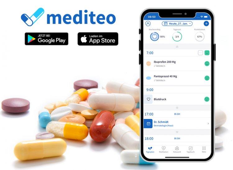 mediteo: Den persönlichen Medikationsplan einhalten